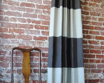 """96""""L Striped Drapery Panel - custom curtains - 28 color options"""