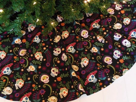 Day Of The Dead Christmas Tree Skirt Sugar By Kaysgeneralstore