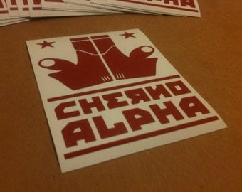 Cherno Alpha stickers - pacific rim jaeger decal geek gift