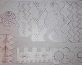 custom order for lone star linda hand crafted Crazy quilt seam templates custom made