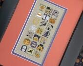 Halloween Jumble : The Drawn Thread cross stitch patterns sampler October witch jackolantern hand embroidery