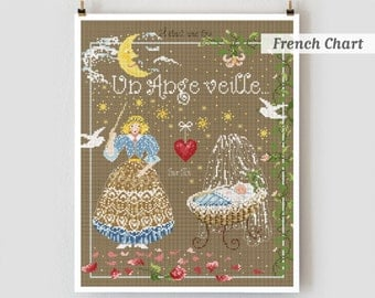 Sleeping Beauty : Madame la Fee French cross stitch patterns & charm fairy tale counted hand embroidery The Cottage Needle