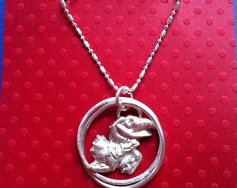 Jayhawk Sterling Silver Necklace! Rock Chalk Jayhawk!