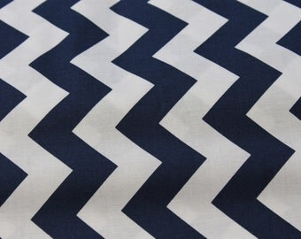 Blue and White Medium Chevron Cotton Fabric by Riley Blake Designs.  Vintage apparel, summer dresses, Baby Car Cover, Baby Blanket, Aprons