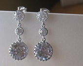 Triple Round Drop Earrings