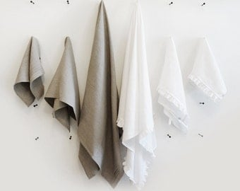 Linen bath towels ruffled white or grey pleated towel Lovely Home Idea