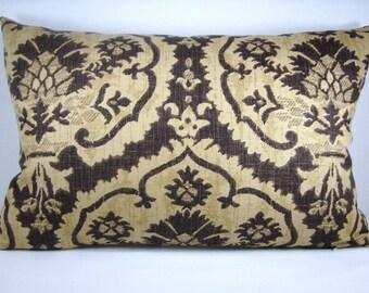 Decorative Damask Accent Lumbar Pillow Linen Pillow Designer Pillow13X20