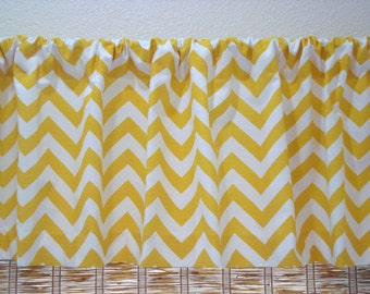 Chevron Valance ZigZag Curtain Kitchen Curtain Childs Valance 52x12 52x14  52x16  52x18