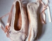 Knitted ballet slippers - knitting pattern