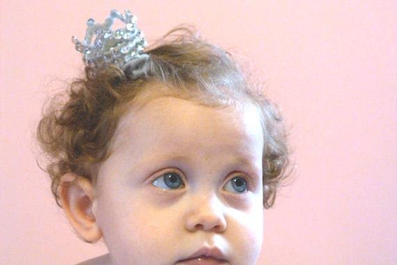 Mini Crown Girl's Hair Clip- Birthday Crown, 1st birthday, Girl's Hair, Baby Tiara, Baby Crown, Disney, Princess Hair, baby hair accessories