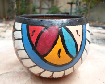Vintage Hand Painted and Signed Navajo Pottery