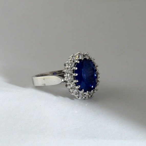 royal blue sapphire ring princess diana engagement by