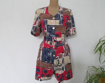 Pretty Romper / Playsuit  Vintage / Romper /  Playsuit / With Pockets