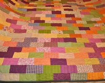 Brick Road Queen sized quilt