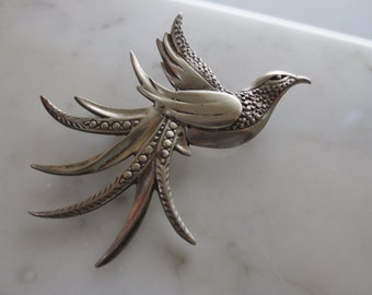 Vintage Sterling Bird of Paradise