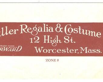 Antique Vintage Fuller Regalia Worcester MA USA Grange Fraternal Order Two Pieces Paper Ephemera Design Typography