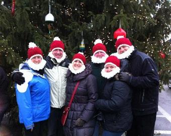 Santa Beard Hat Child/Teen/Adult (Made To Order)
