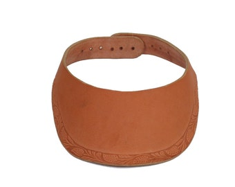 All Leather Sun Visor Cap