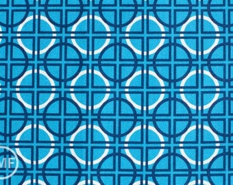 Half Yard Circle Quadrant in Turquoise, Metro Living, Robert Kaufman, 100% Cotton Fabric, EIP-11019-81 TURQUOISE