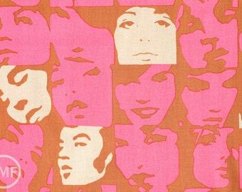 Half Yard In Crowd in Hot Pink, De Leon Design Group, Alexander Henry Fabrics, 100% Cotton Fabric, 6681E
