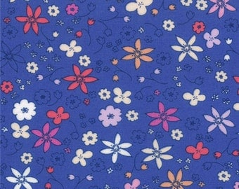Half Yard Hello Petal Dinky in Lovely Cobalt Blue, Aneela Hoey, Moda Fabrics, 100% Cotton Fabric, 18564 17