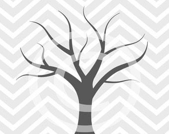 baby shower 8x10 fingerprint chevron gray thumbprint guestbook tree printable diy JPEG