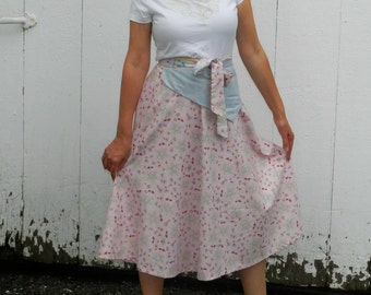 70's Inspired Wrap Skirt- PRETTY In PINK