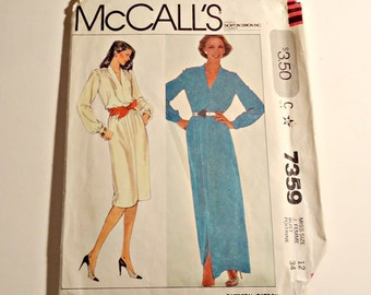 McCall's Sewing Pattern Woman's Dress Size 12