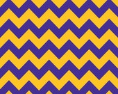 Fabric by the Yard - Purple and Gold Chevron by Riley Blake