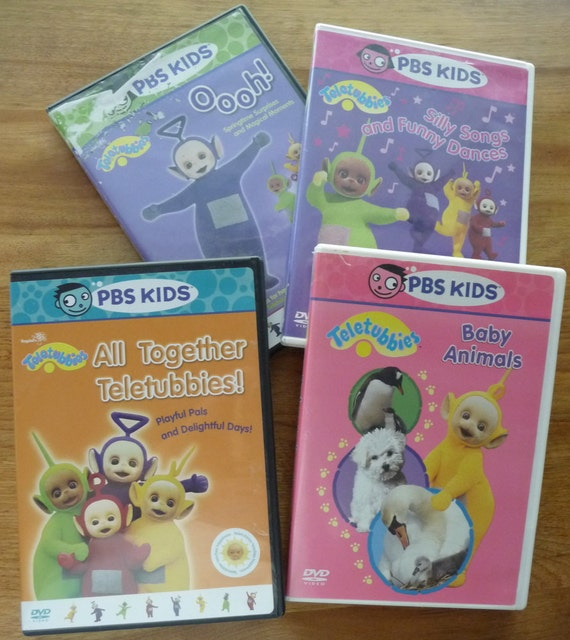 Four PBS Kids Teletubbies DVDs. Lots Of Fun For The Little