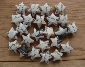 Harry Potter Origami Stars, set of 24. Book Pages, Bookworm.