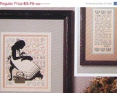 Cross Eyed Cricket SHADOWS Silhouette Needlewoman By Vicki Hastings - Counted Cross Stitch Pattern Chart