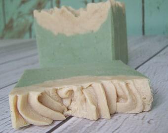 Tea Tree & Eucalyptus all natural Goat's Milk Soap with silk