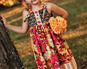 3/4T Heirloom Floral Knot Dress, Ready to Ship