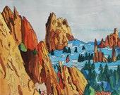 "Garden of the Gods 3, Colorado. Ceramic Tile, 8"" x 10"".  Free shipping in U.S."