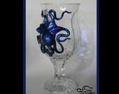 Octopus Art, The Ocean Blue Sea Fire Kraken, Kraken Chalice, Octopus Sculpture by Elstwhen.