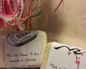 50 Exquisite Artisan Personalized Wedding Soap Favors
