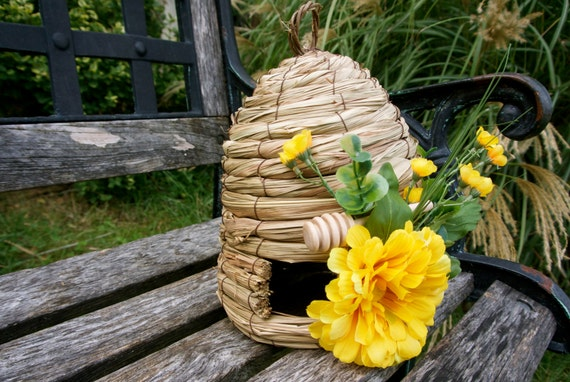 Unique Rustic Home Decor Weaved Bee Hive Table Setting By