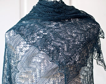 """Pattern for rectangle lace shawl """"Odile"""""""