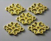 LINK-G-18MMx13MM - Gold Plated Filigree Connectors - 10 pcs