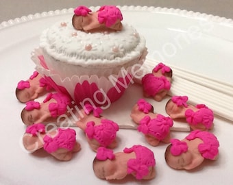 12 Fondant Babies for Cake Pops or Cupcakes. The cutes mini babies the perfect addition for your home made treats. Mini baby shower toppers