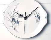 1950's Black and White Royal Standard Vintage Sandwich China Plate Wall Clock