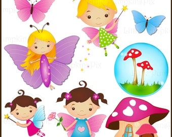 FLUTTER FAIRIES - Clip art for personal and commercial use.