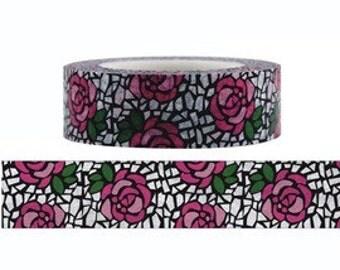 Rose Mosaici Washi Masking Tape (15M)