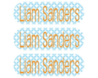 115 Custom Stick On Clothing Labels - Washing machine and dryer safe - Personalized clothing labels
