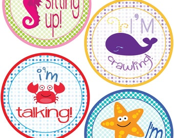 ADD ON My First Stickers for Baby, My First Stickers  - Ocean Life Theme -  Baby My First Stickers -Baby Shower Gift - Baby