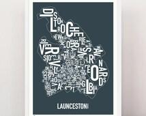 LAUNCESTON - Large Suburban Screen Print