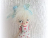 Shabby chic hand painted cloth doll - suziehayward
