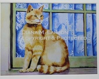Cotswold Cat  5x7 Card