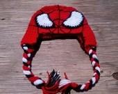 Spiderman Crocheted Hat